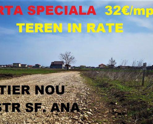 Vanzare teren in RATE Berceni comuna Bucuresti
