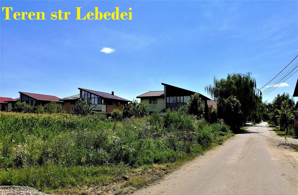 Teren cu gaz + curent + apa cartier rezidential comuna Berceni str Lebedei 45€/mp